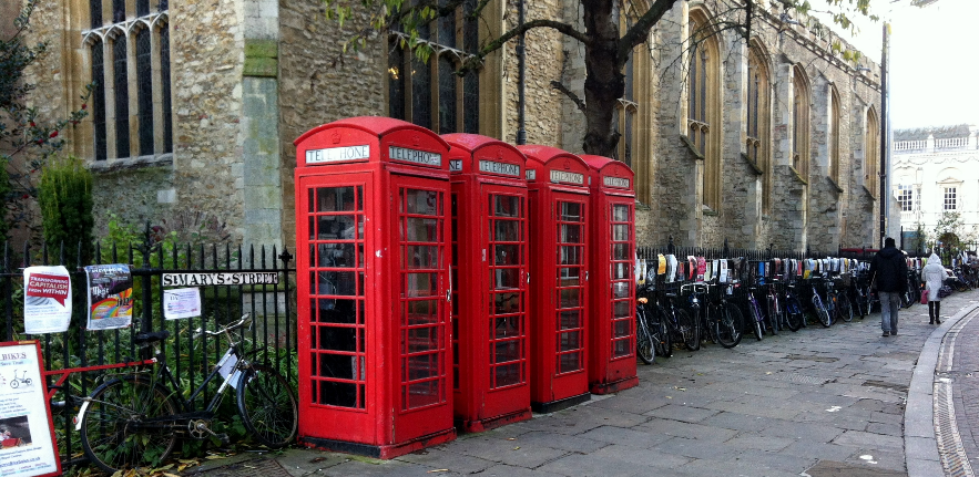 Phone boxes on Market Square