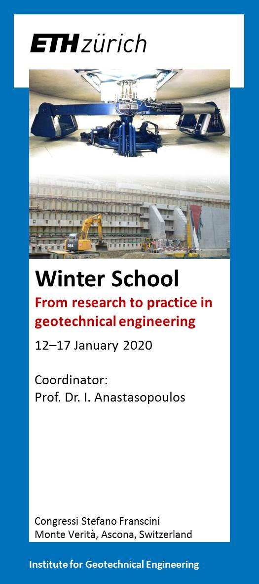 Winter School 2020 – From Research to Practice in Geotechnical Engineering