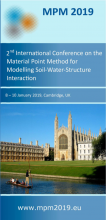 """Second International Conference on the """"Material Point Method for Modelling Soil–Water–Structure Interaction"""" (www.MPM2019.eu)"""
