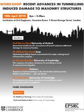 Prof. Lord Mair and Dr DeJong are organising a workshop on Tunnelling